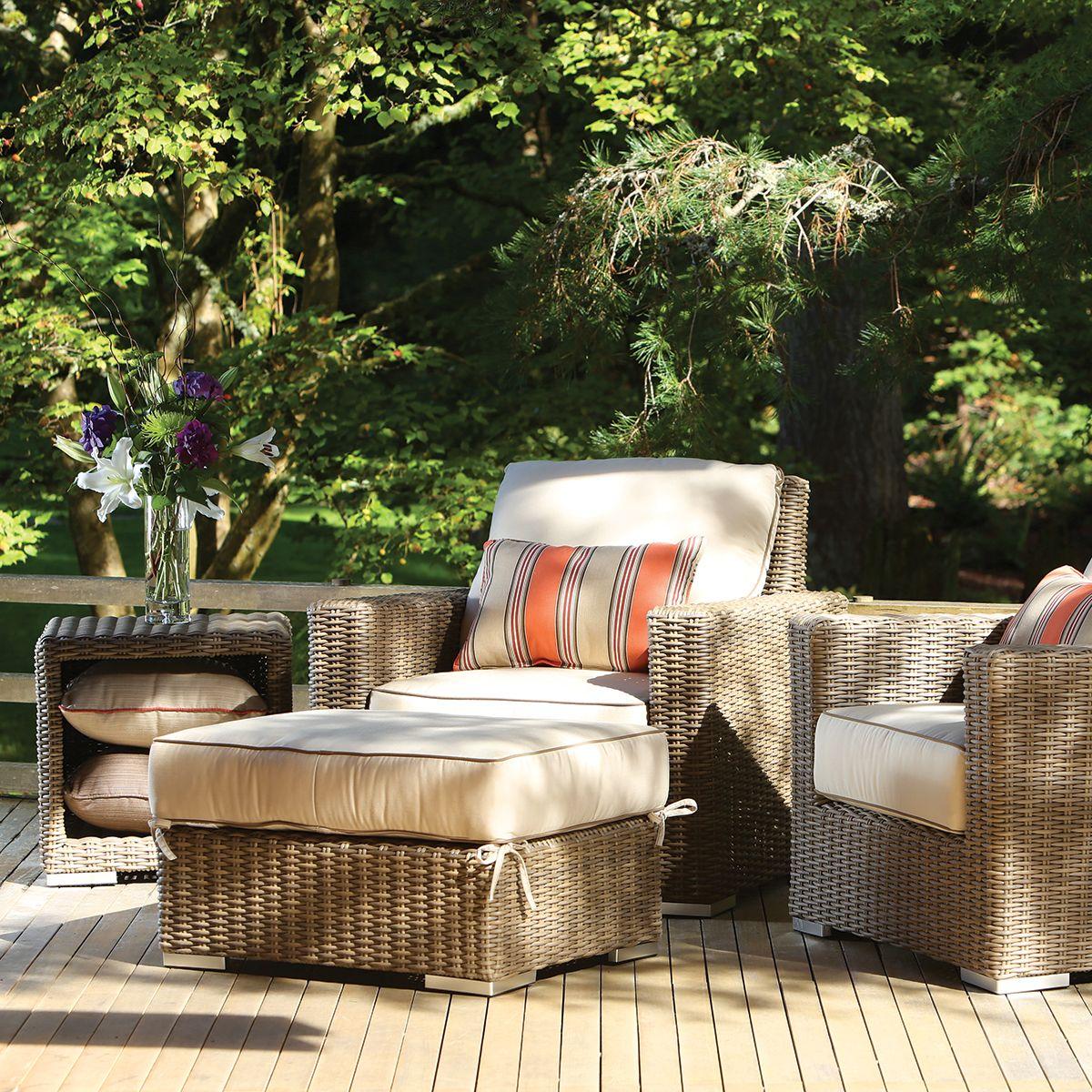 Wicker club chair 50 sunbrella fabrics premium quality hampton thos baker outdoorfurniture furniture homedecor