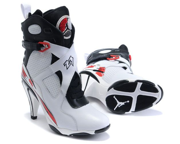 womens air jordan 8 high heel