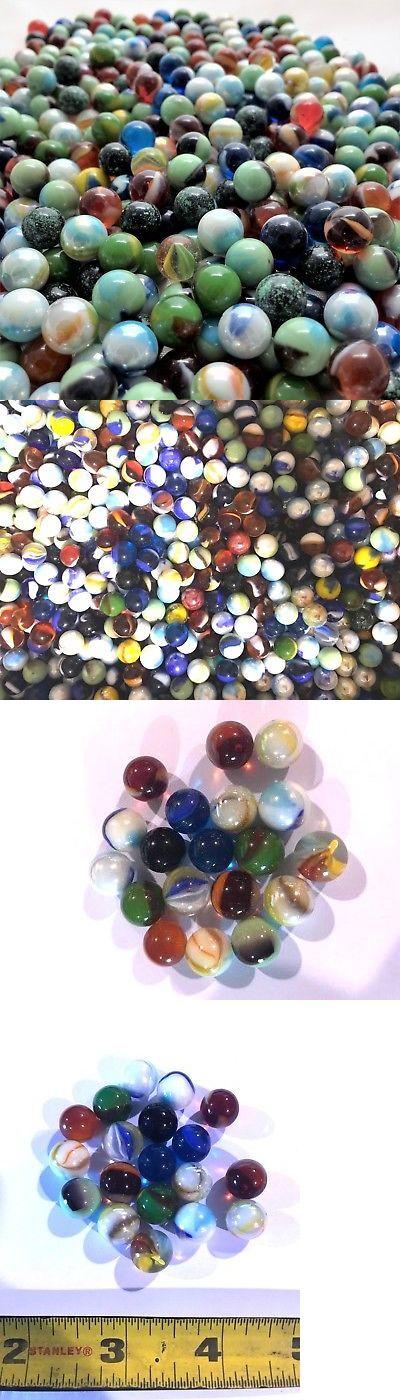 Glass Peewee Marbles 12mm Bulk Assorted Mega Lot Set Of 1000 Marble Glass Settings