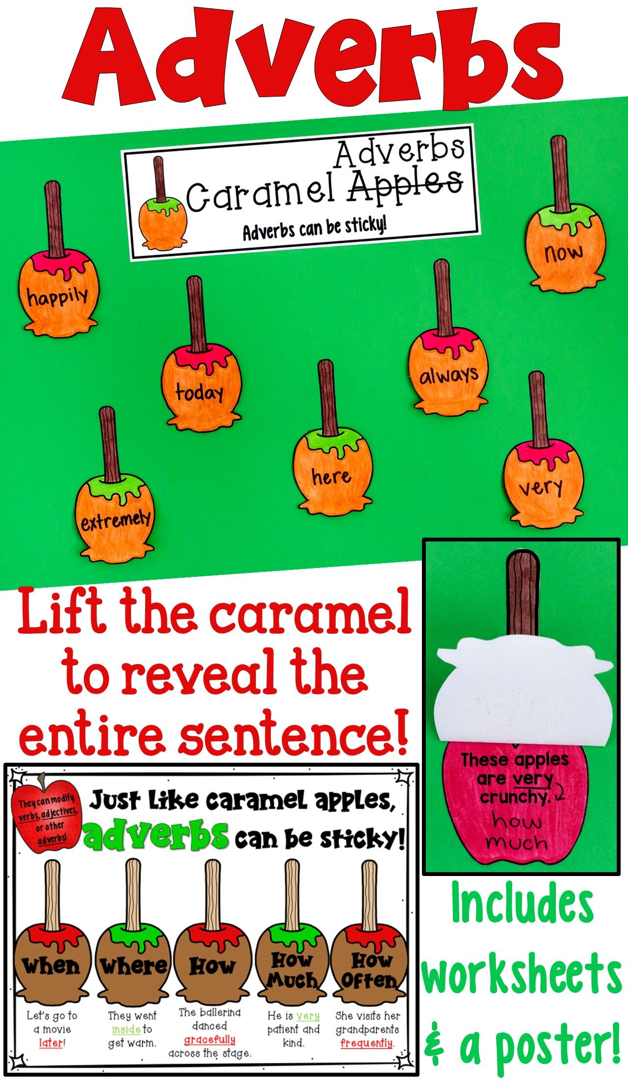 Adverbs Craftivity Poster And Worksheet