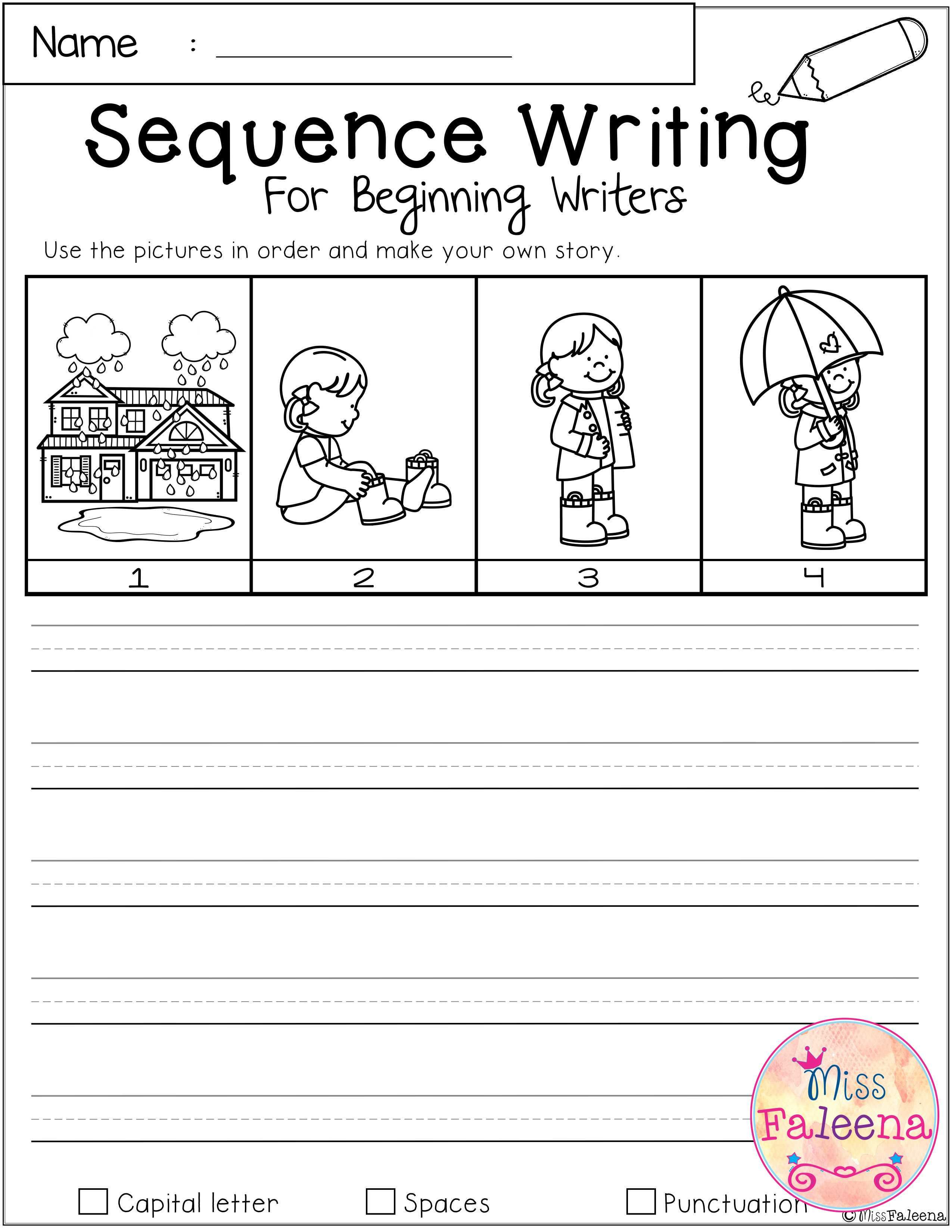 March Sequence Writing For Beginning Writers