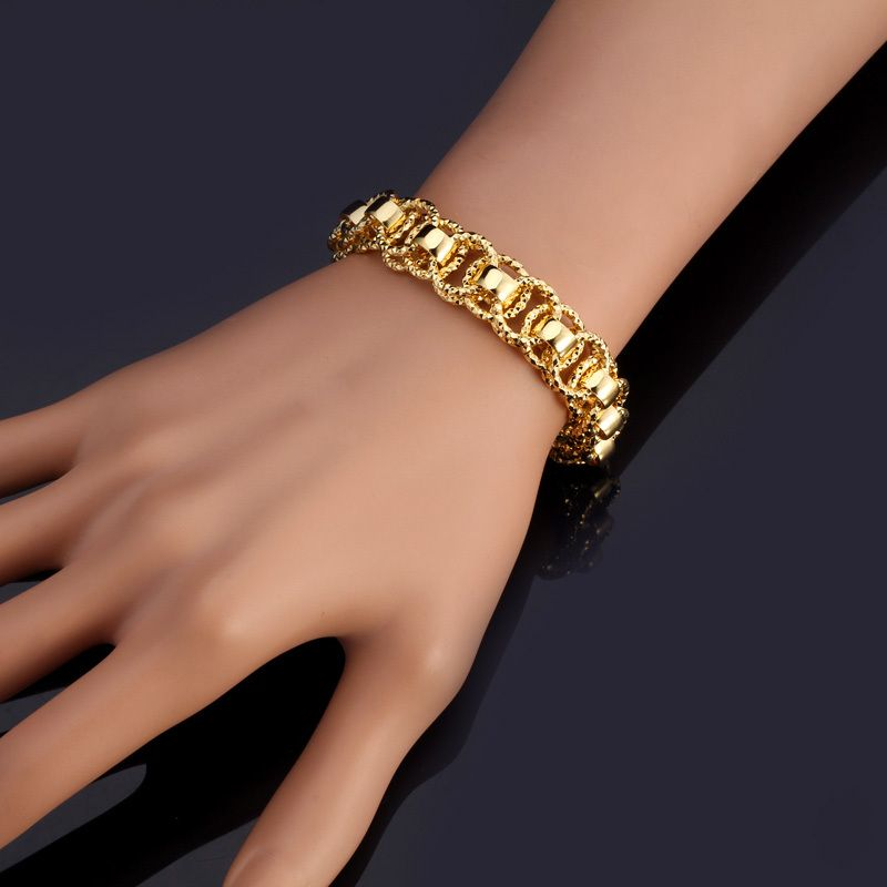 grande thick cuban miami gold solid products bracelet