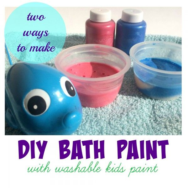 How To Make DIY Bath Paint with Real Kids Paint | Bath paint, Diy ...