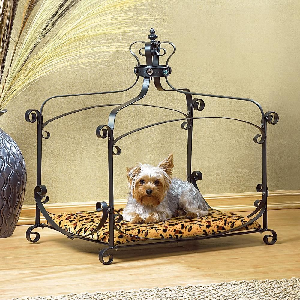 small dog furniture. Luxury Royal Princess Iron Scroll Canopy Dog Cat Pet Bed Furniture Small 25 X 18 F