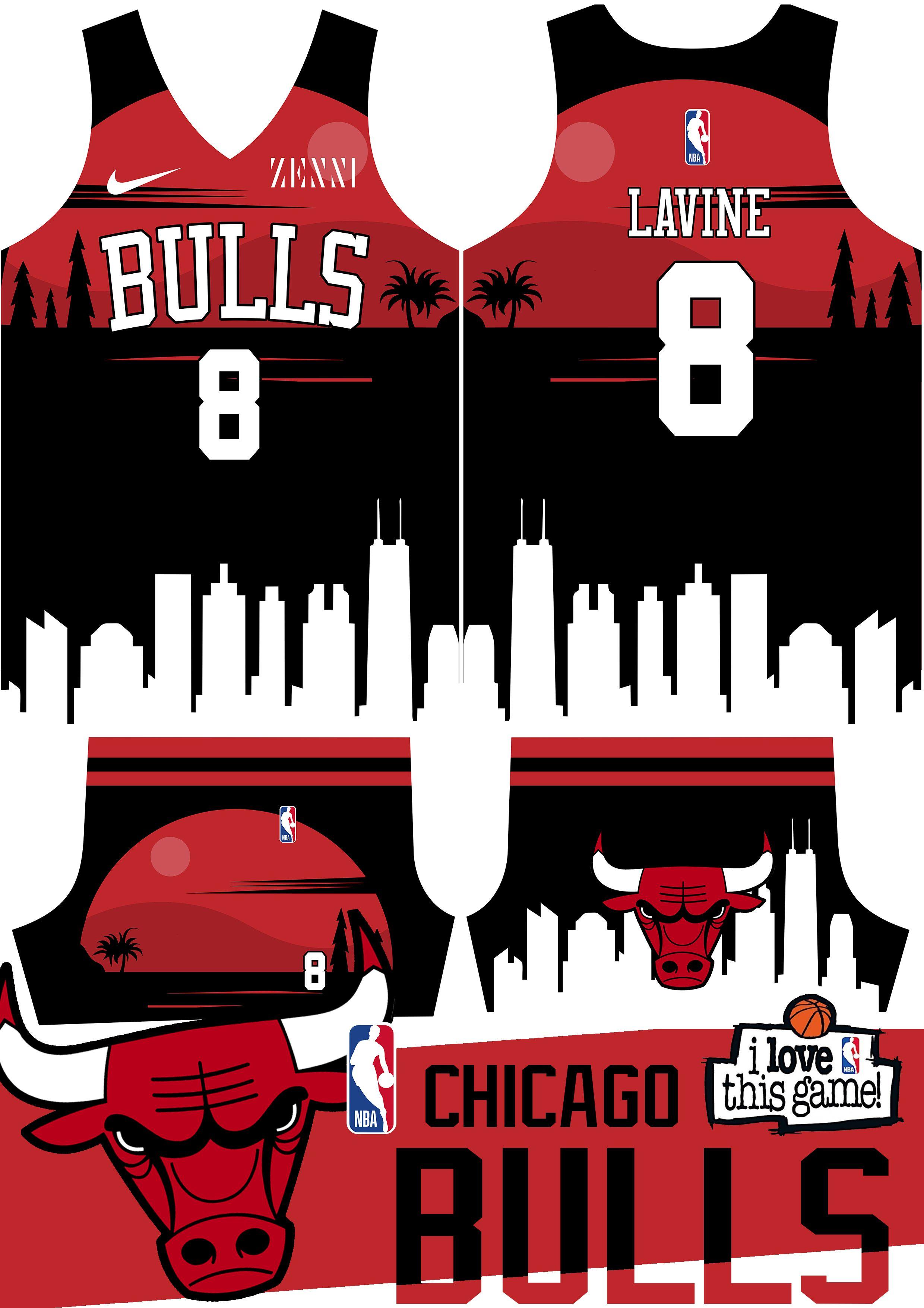 Chicago Bulls Zach Lavine Basketball Jersey In 2020 Basketball Jersey Jersey Design Basketball Uniforms Design