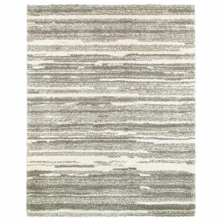 A345 Lizzy Shag Rug 8 X 10 Grey Shag Rug Affordable Area