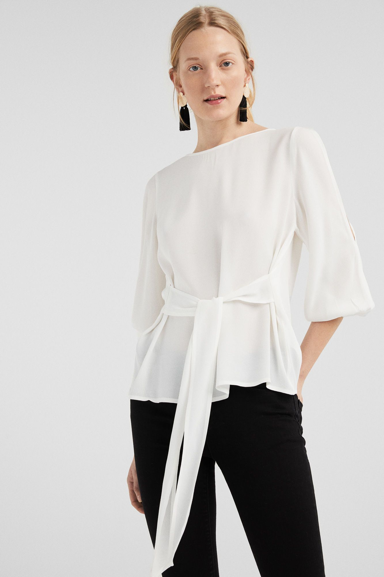 Pin De Mimi En Spring Wishlist Blusas Con Lazo Camisas Con Lazo Moda De Otoño Casual