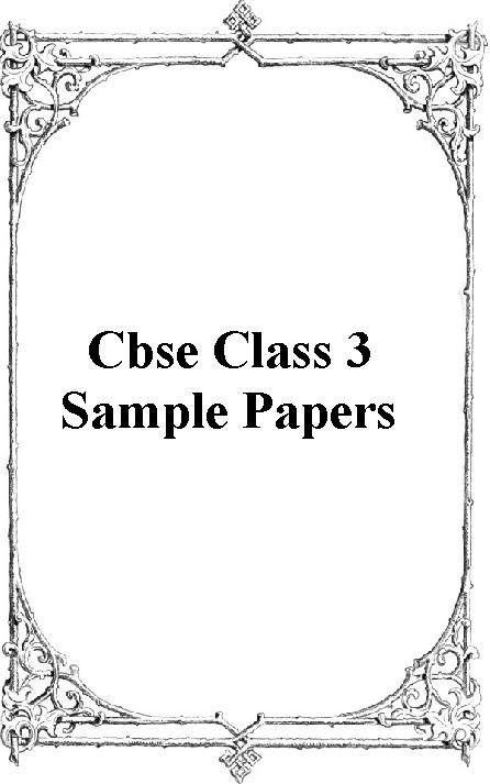 Cbse Class  Sample Papers  HttpCbseEduriteComCbseSample