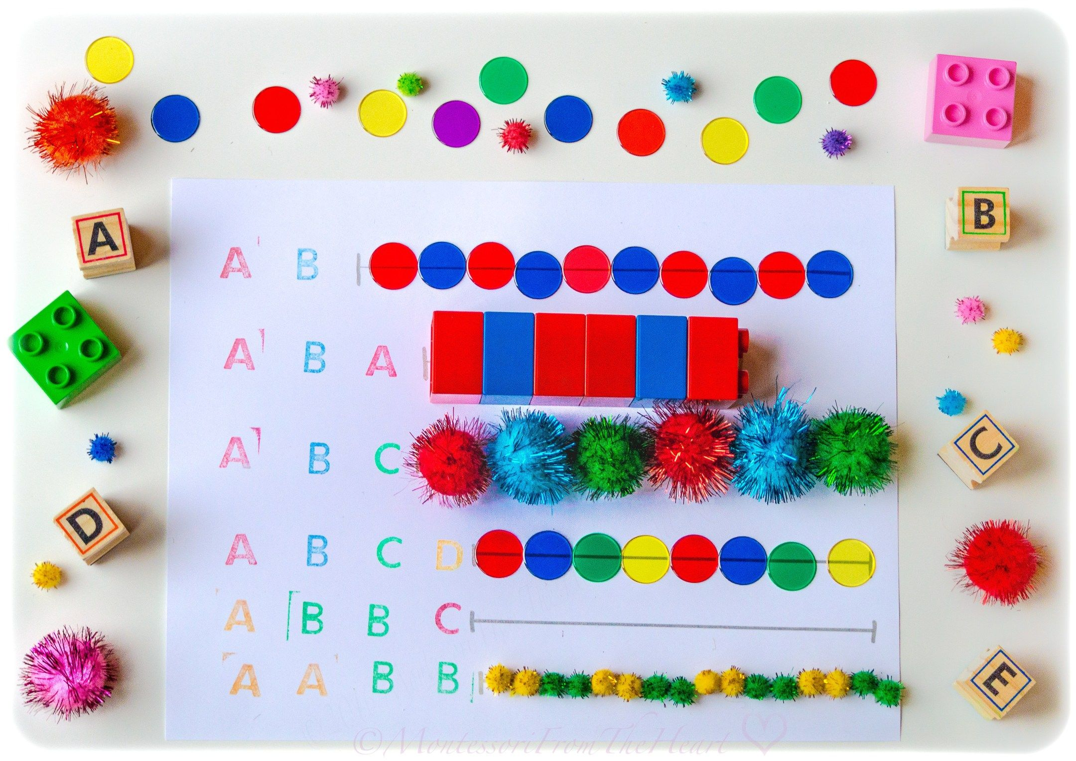 Diy Pattern Preschool Activity