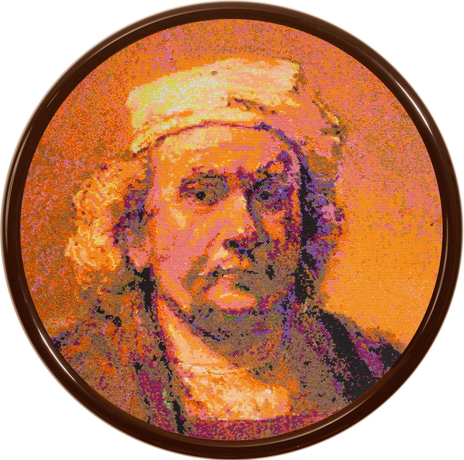 David Mach S Rembrandt Made From Thousands Of Coloured