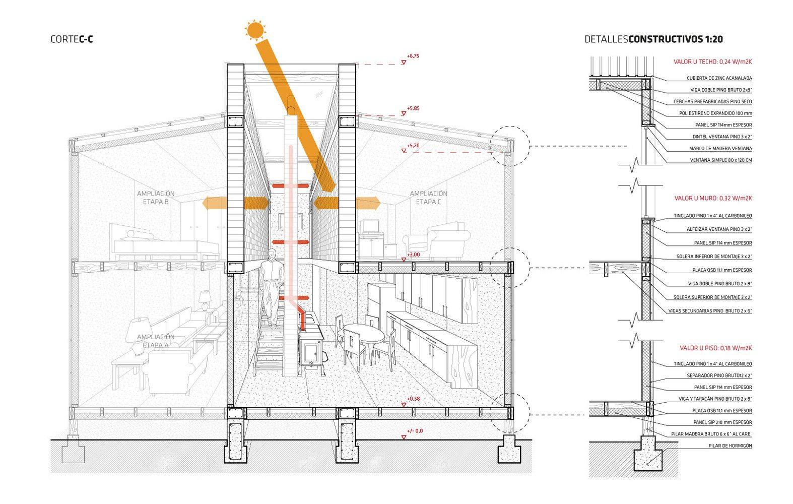 Gallery Of 30 Plans Sections And Details For Sustainable