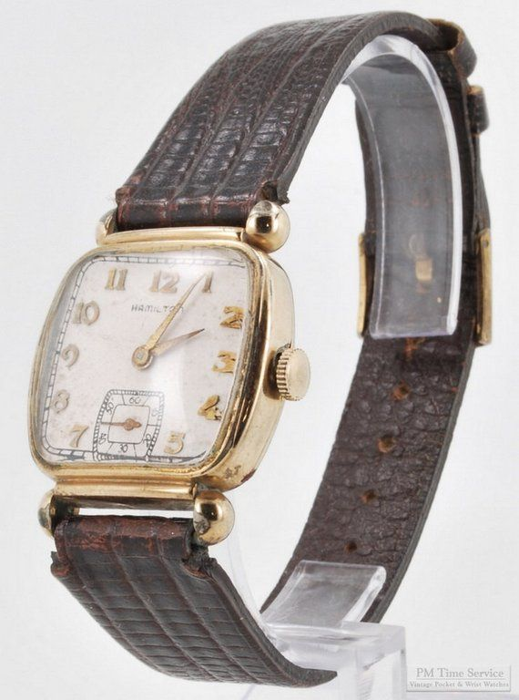 a3225d6ab Hamilton vintage wrist watch, grade 987A, 17 Jewels, yellow gold filled  Hamilton square case