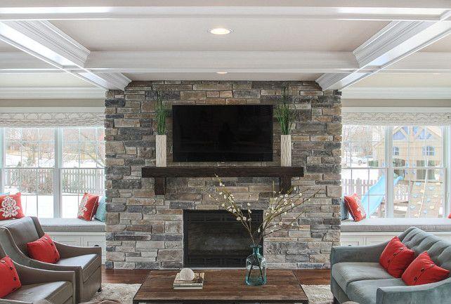 Fireplace Stone Fireplace Stone Is Boral Echo Ridge