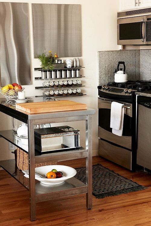 kitchen trolley stainless steel and wood unique creations pinterest sch ner wohnen k che. Black Bedroom Furniture Sets. Home Design Ideas