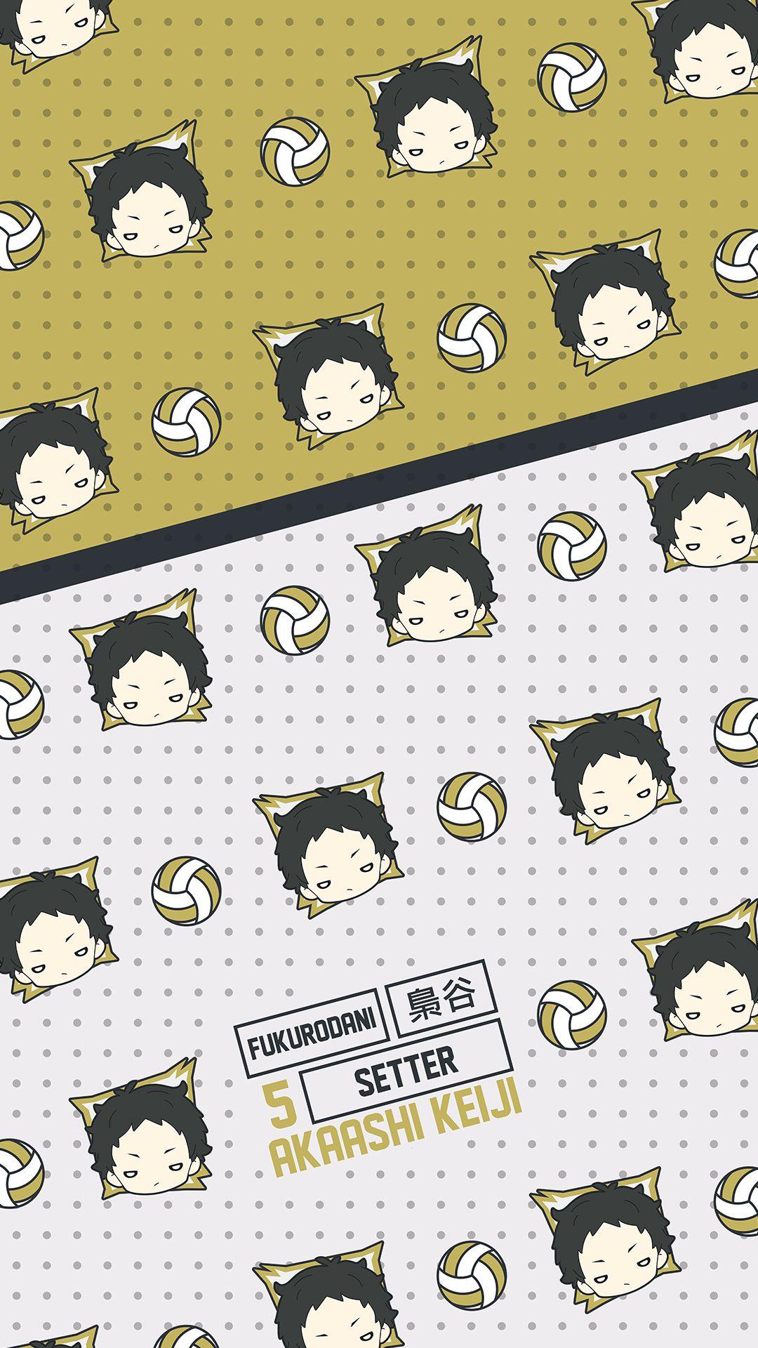 Akaashi Keiji - Fukurodani - Pattern - Wallpaper