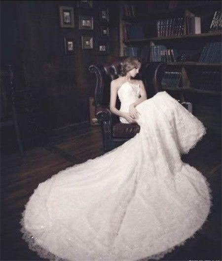 All girls have a wedding dress dream