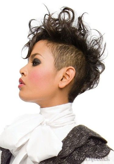 Mohawk Hairstyles For Black Women With Short Hair