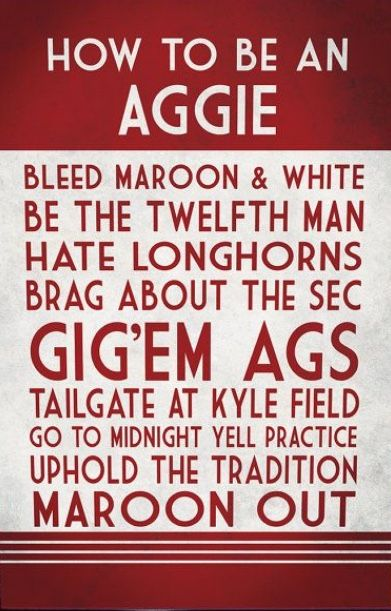 How to be an Aggie