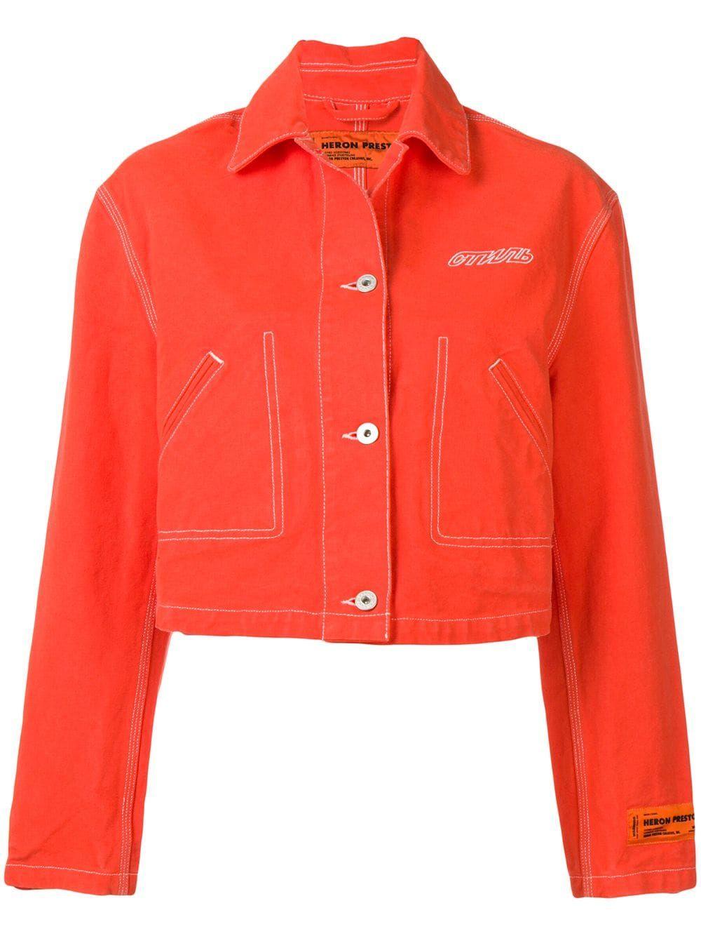 Heron Preston Cropped Denim Jacket Farfetch Cropped Denim Jacket Cropped Denim Jackets [ 1334 x 1000 Pixel ]