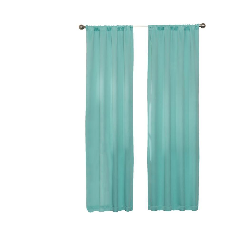 Darrell Blackout Window Curtain Panel In Mint 37 In W X 63 In