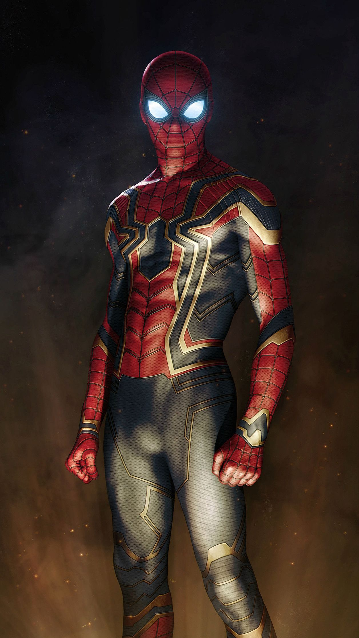 Iron Spiderman Suit Avengers Iphone Wallpaper Iron Spider Suit