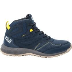 Photo of Jack Wolfskin Wasserdichte Männer Wanderschuhe Woodland Texapore Mid Men 46 blau Jack Wolfskin