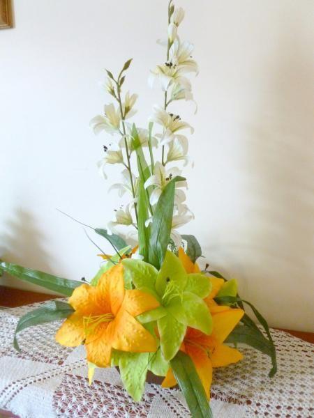 Como hacer un centro de mesa con flores artificiales - Centro de mesa con flores artificiales ...