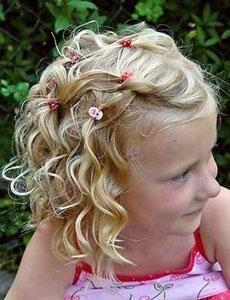 Kids Curly Hairstyle Kids Curly Hairstyle Little Girl