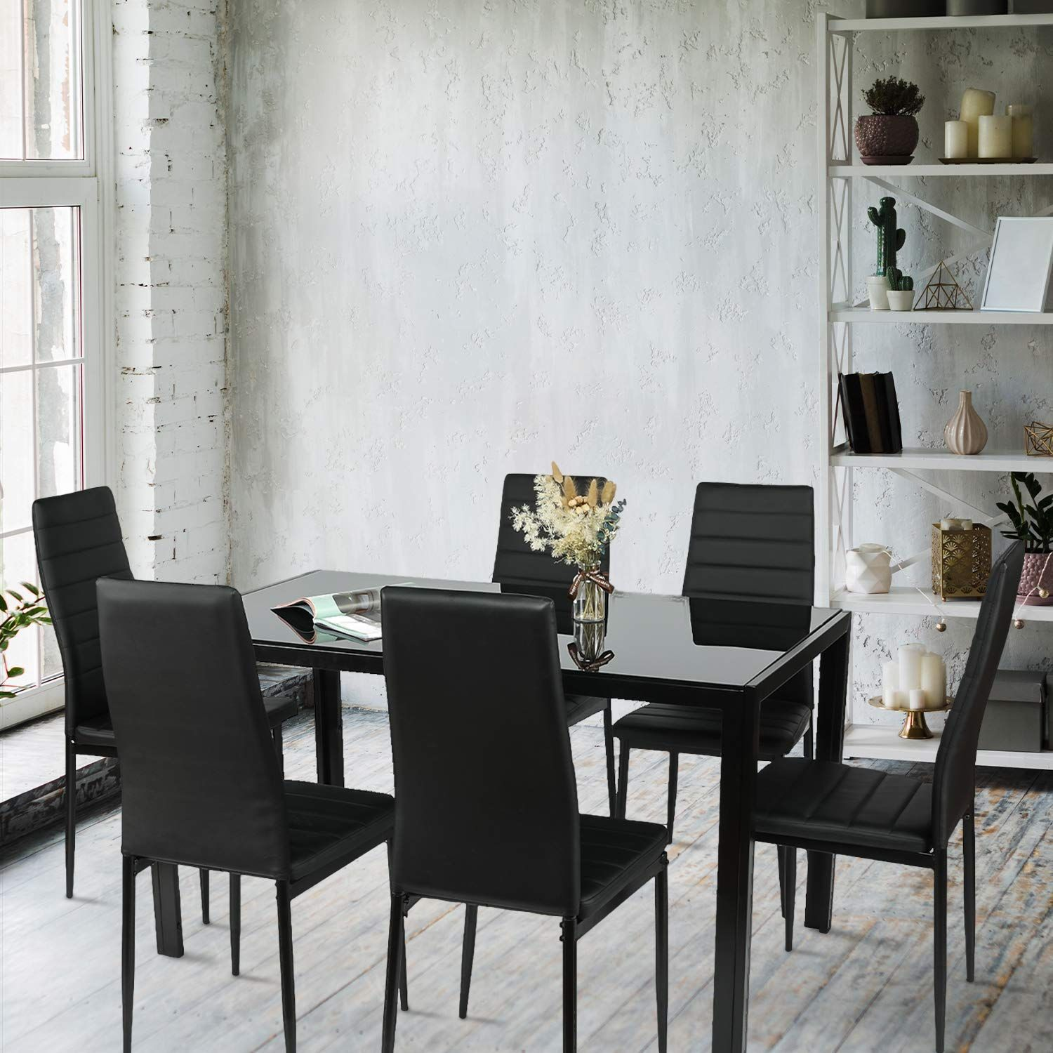 Bahom 7 Piece Kitchen Dining Table Set For 6 Read More At The Image Link It Is An Affiliate Link To Amazon Dining Table In Kitchen Dining Table Dining