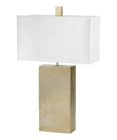 Love this Gold Cement Tower Table Lamp on #zulily! #zulilyfinds