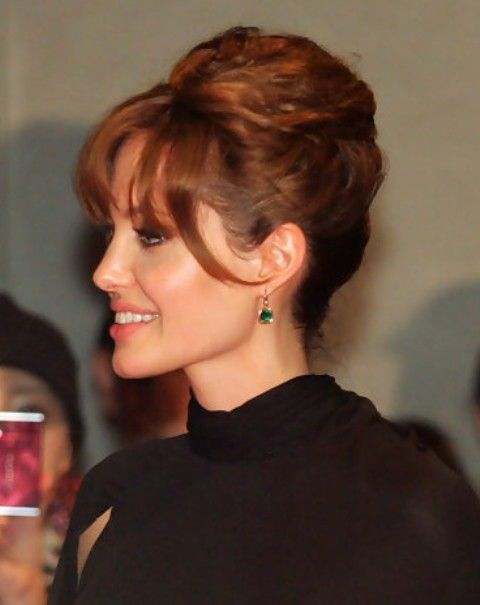 33 Angelina Jolie Hairstyles Angelina Jolie Hair Pictures Pretty Designs French Twist Hair Hair Styles Twist Hairstyles