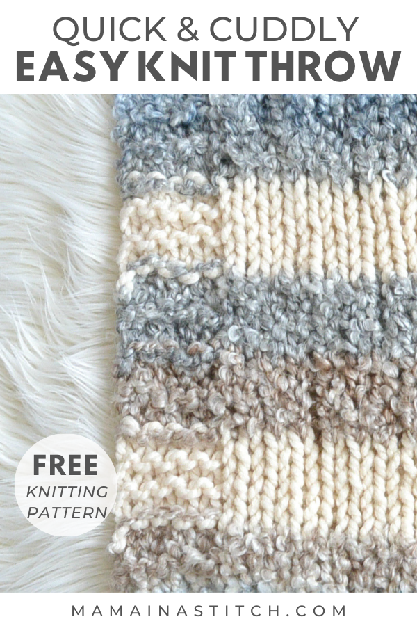 Quick & Easy Cuddly Knit Throw Blanket Pattern