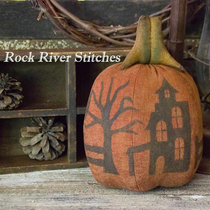 Primitive Halloween Silhouette Pumpkin, Halloween Decoration - halloween decoration images