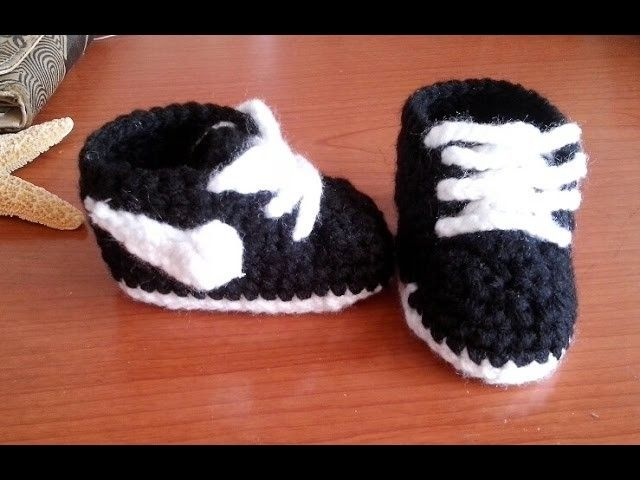 Zapatitos nike a crochet para bebe muy fáciles   Zapatos nike ...