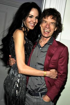 Mick Jagger and L'Wren Scott before her untimely suicide
