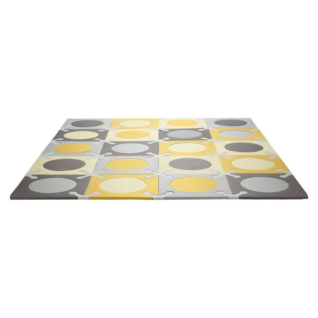 Skip Hop Playspot Interlocking Foam Tiles - Gold/Grey. Image 1 of 3.