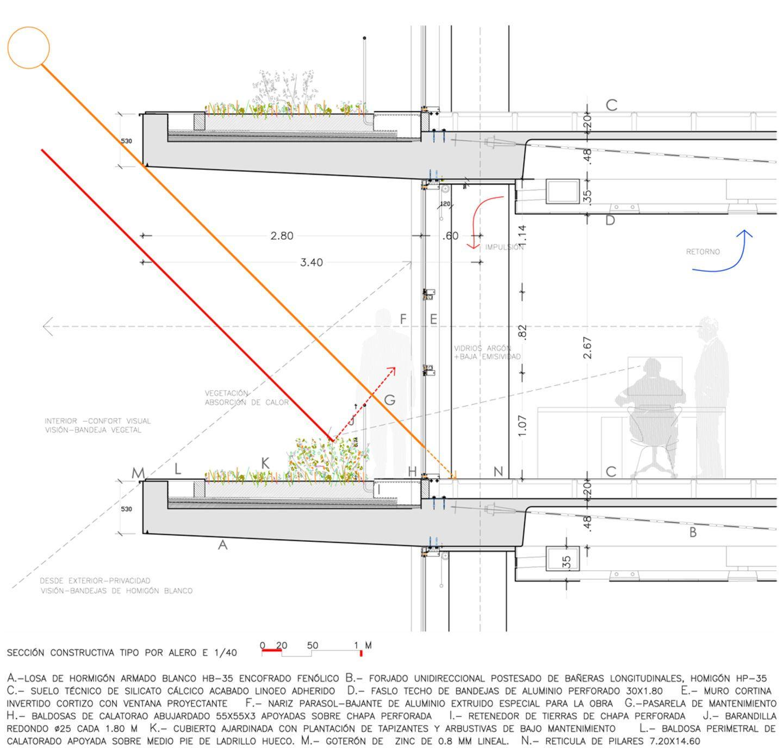 Corte en base al sol architecture pinterest detalles for Junta constructiva