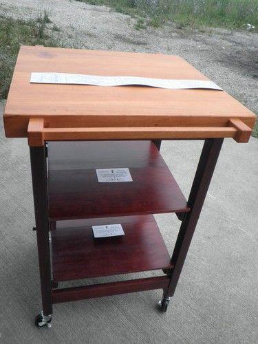Oasis Island Folding Kitchen Butcher Block Bbq Cart Table Stand Oak Cherry A Kitchen Island Design Custom Kitchen Island Butcher Block