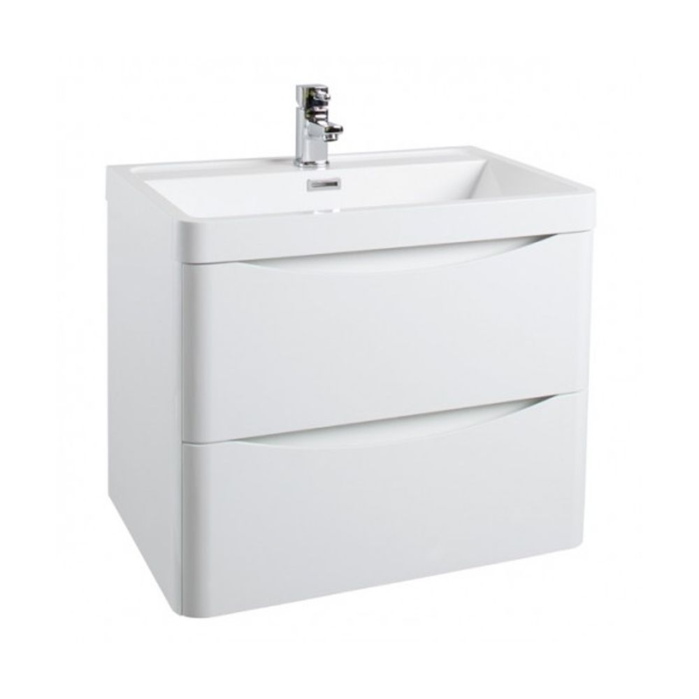 Cali Bali 2 Drawers Wall Mounted Vanity Unit With Basin 600mm