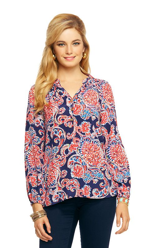 c1fc0baefe9 Elsa Top - For The Halibut - Lilly Pulitzer