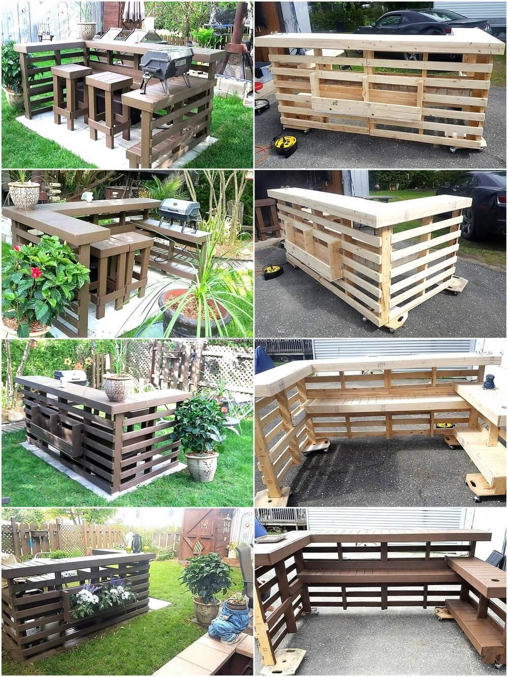 Wood Pallets Garden BBQ Bar Terrace | DIY Drvenarija | Pinterest ...