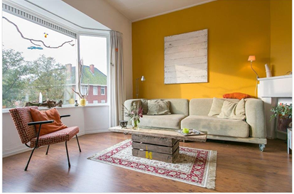 Afbeeldingsresultaat voor okergele kamer  Moodboard huis