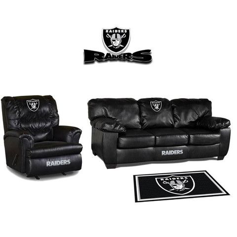 Genial Use This Exclusive Coupon Code: PINFIVE To Receive An Additional 5% Off The Oakland  Raiders Leather Furniture Set At SportsFansPlus.com