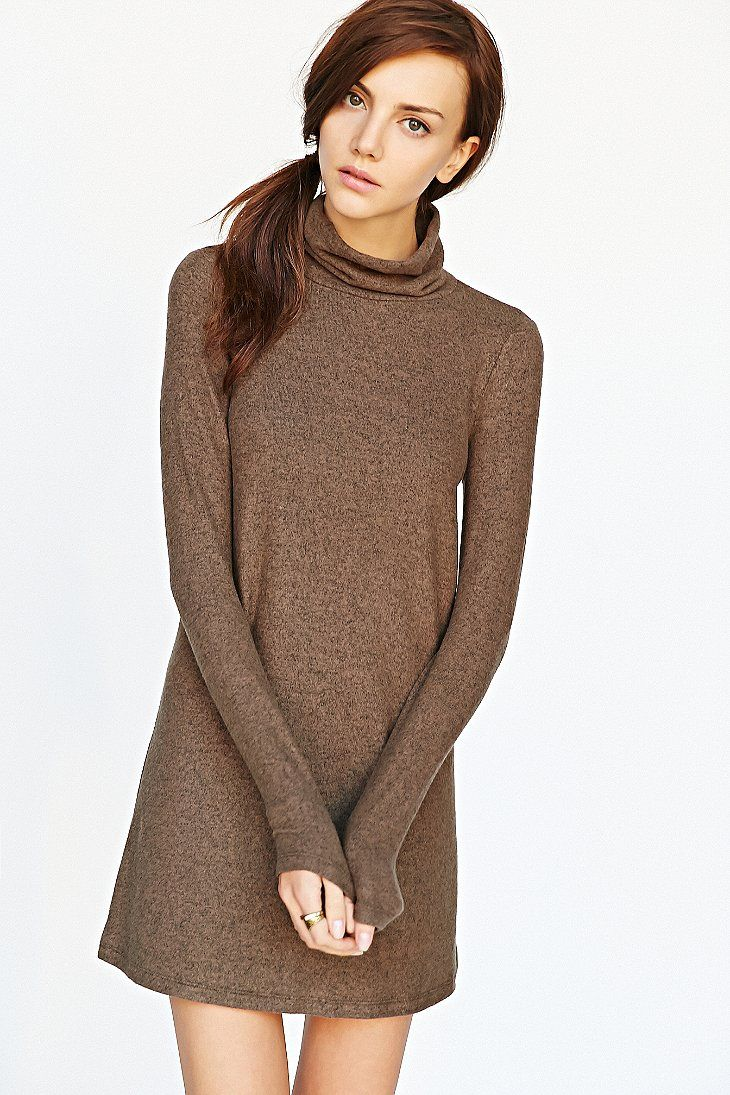 Bdg brushed turtleneck swing dress swings urban outfitters and