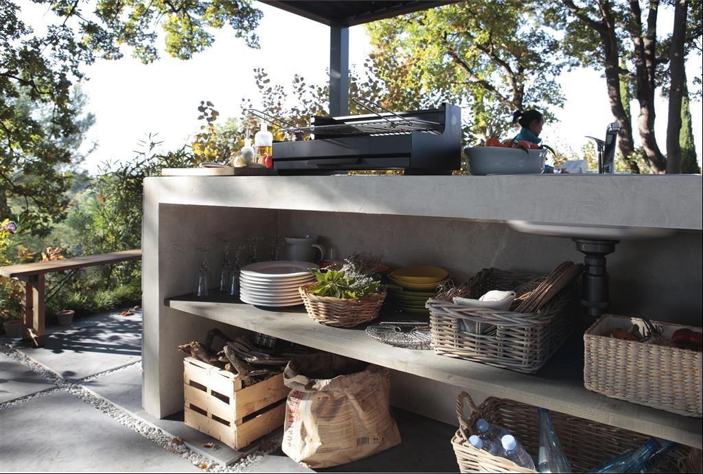 prevoir un coin cuisine pour l 39 esplanade est jardin. Black Bedroom Furniture Sets. Home Design Ideas