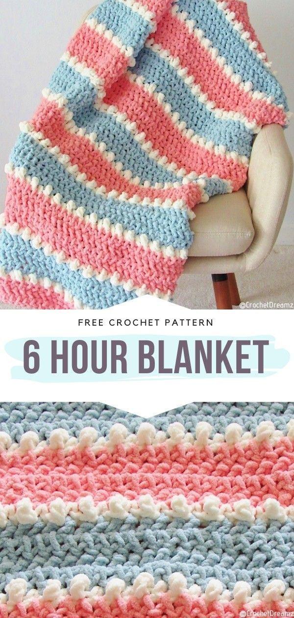 Photo of How to Crochet 6 Hour Blanket –  – #Blanket #Crochet #Hour #blanket #crochet