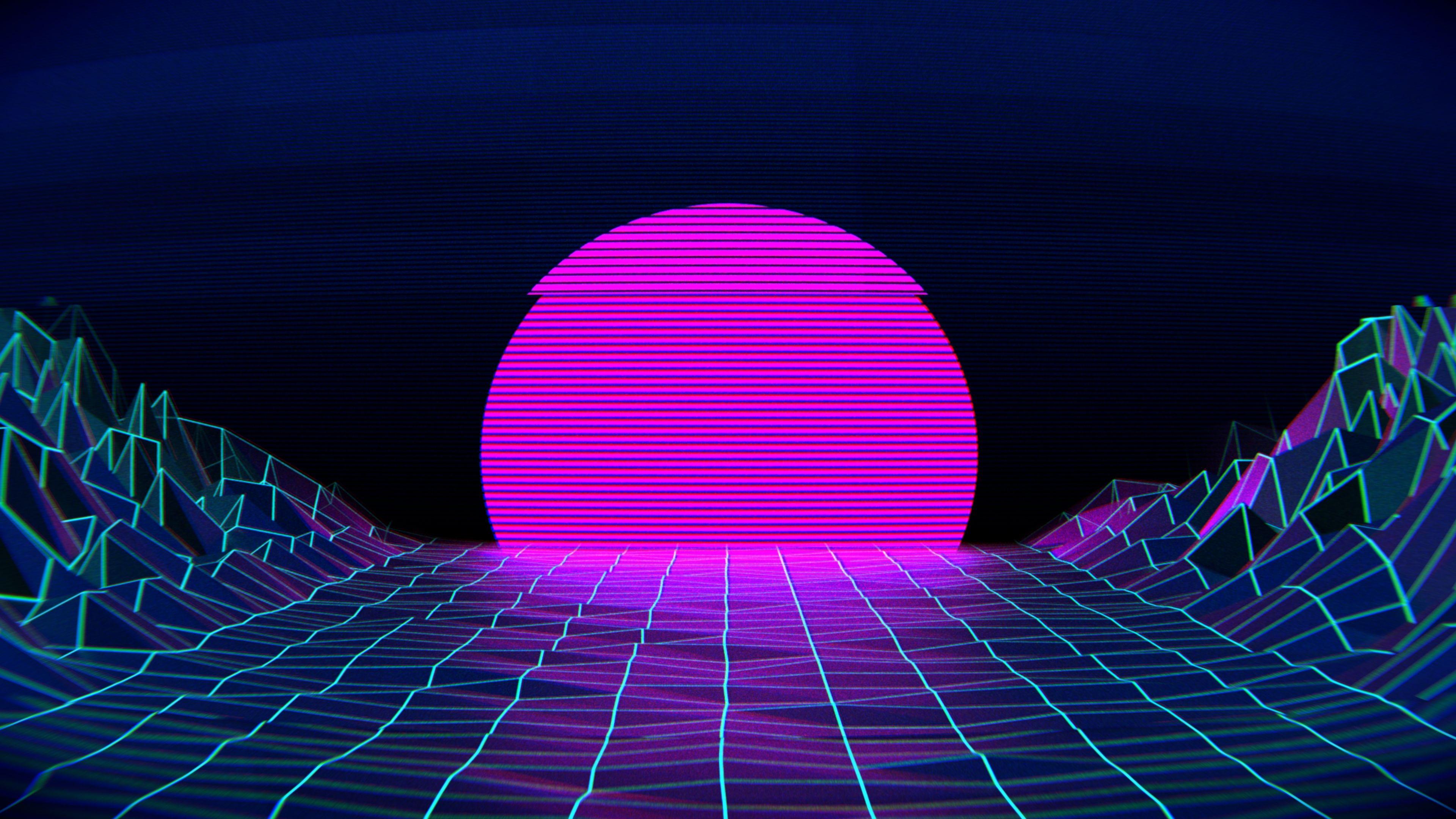 4K Vaporwave Papel de parede vaporwave