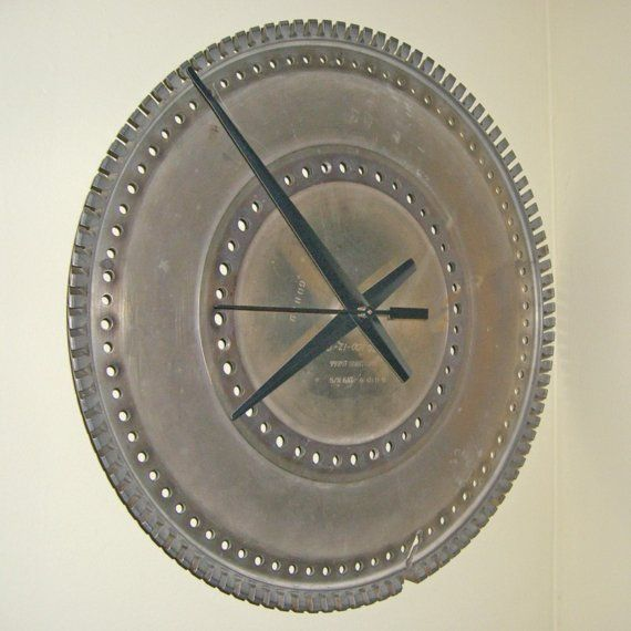 Airplane Gear Large Wall Clock Turbine Engine Reserved Large Wall Clock Wall Clock Clock