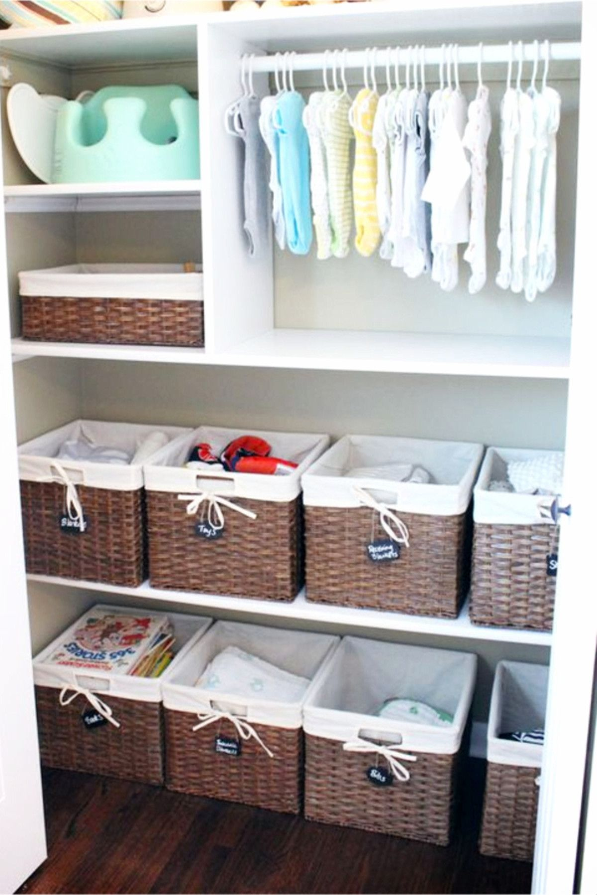 Baby Closet Ideas: 27 Nursery Closet Organization, Storage and