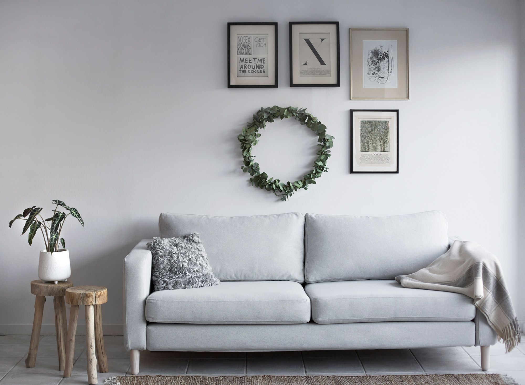 As Part Of Our Sustainability Project We Enlisted The Help Of Emma Elwin From Make It Last To Update An Old Ikea Karlstad Ikea Sofa Sofa Covers Ikea Karlstad